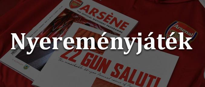 Nyerd meg Wenger búcsú programfüzetét